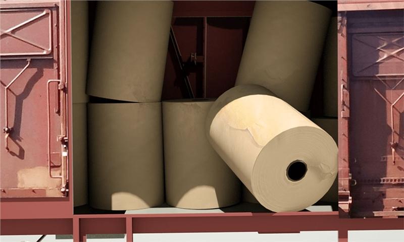 تعیین میزان خسارت وارده به رول های کاغذ