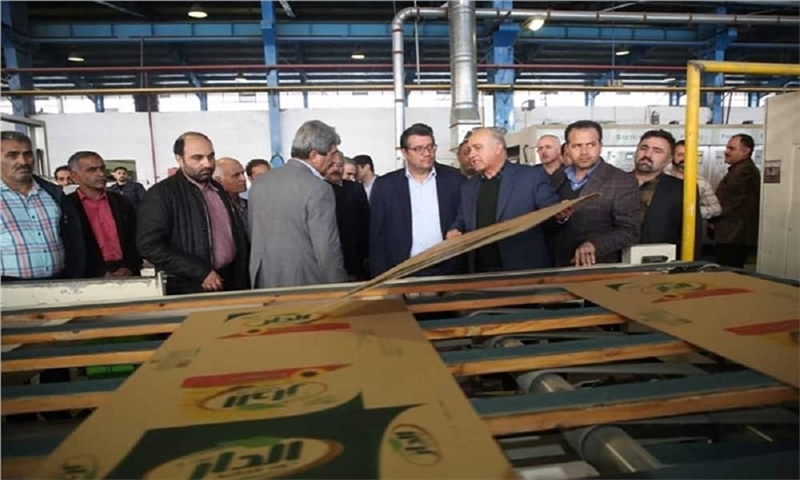 The Minister of Industry, Mine and Trade visited the Pouya Ayesh Cellulose Group in Raja Industrial Park.