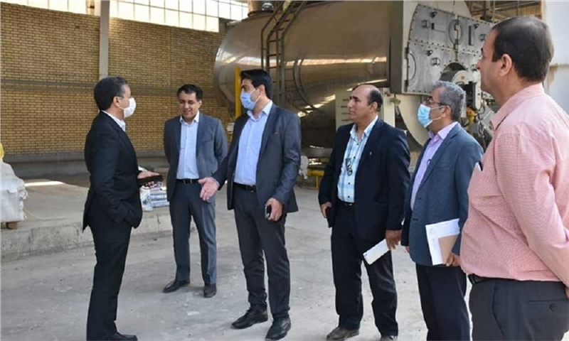 The operation of industrial manufacturing unit of Zagros Paper Mill in 2021