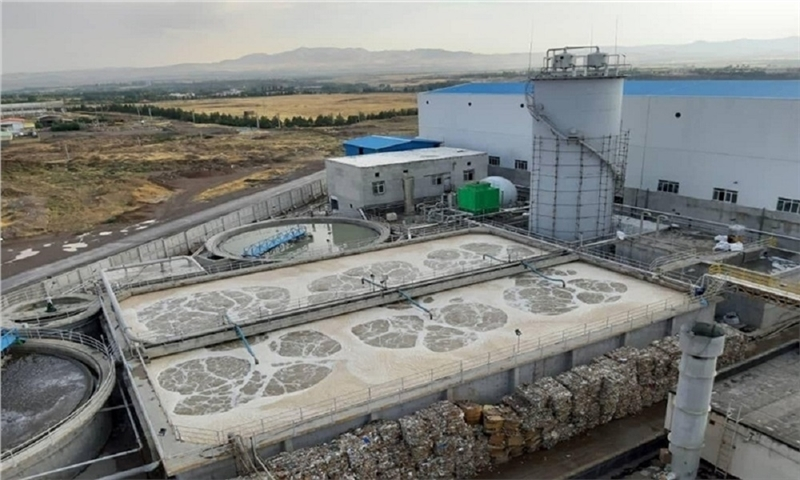 The second plant of wastewater treatment was launched in Zanjan Rasha Caspian Paper Making Company.