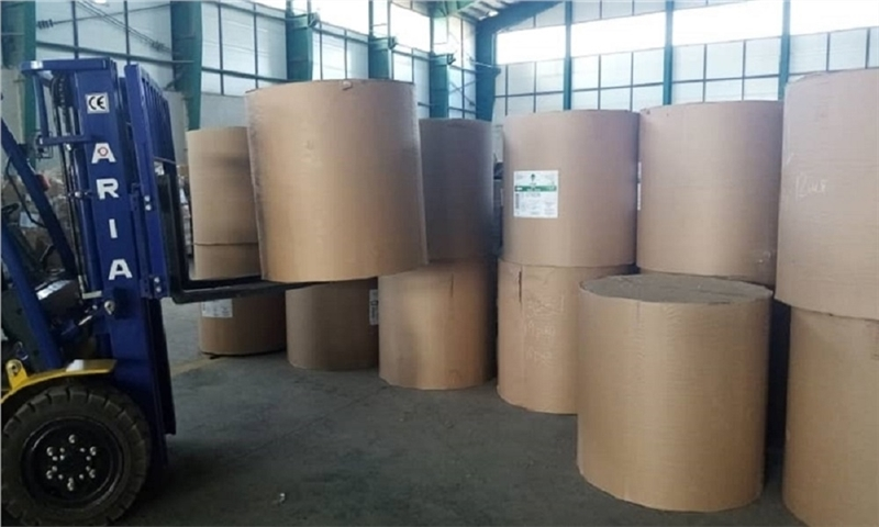 The first shipment of paper rolls arrives in the Caspian port from Russia