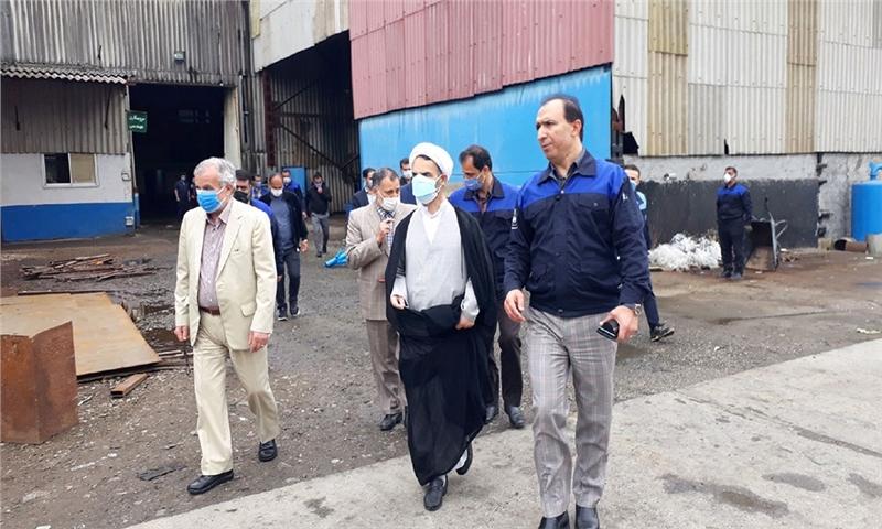 بررسی مشکلات کارخانه چوکا با حضور رییس کل دادگستری گیلان