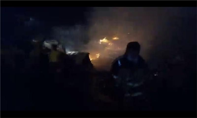 مهار آتش سوزی دو واحد صنعتی در شهرک صنعتی حیدریه