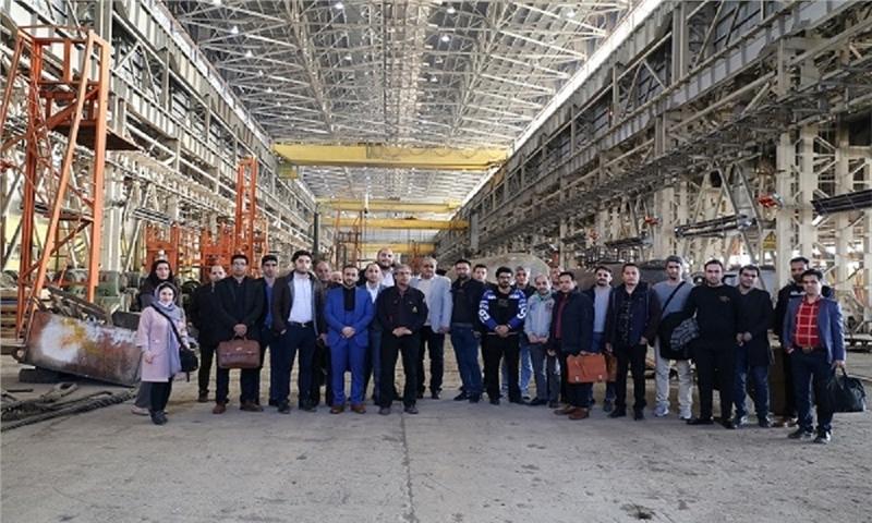 The visit to Arak Machine Manufacturing Factory – Boiler