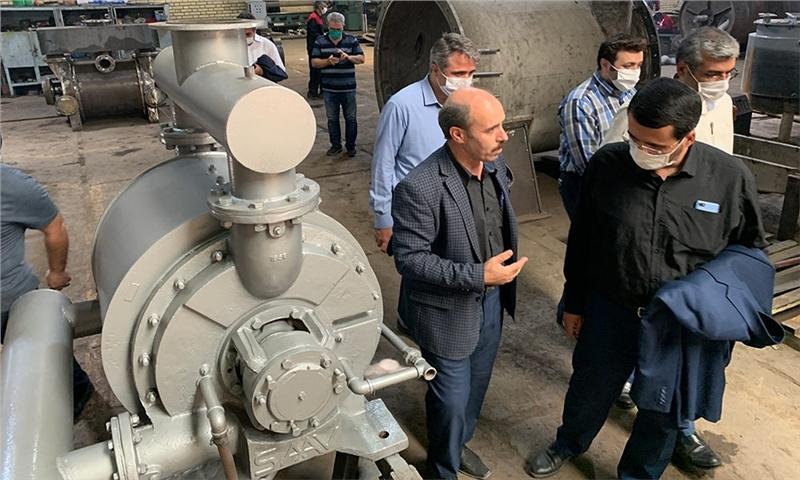 بازدید عضو هیئت رئیسه مجلس شورای اسلامی از فعالیت شرکت شیمی پژوهش صنعت