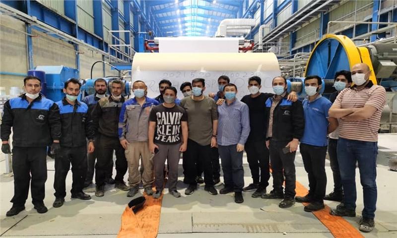 گزارش تصویری از آغاز تولید مقوای دوبلکس برد و ایندربرد در کارخانه راشا کاسپین ایرانیان